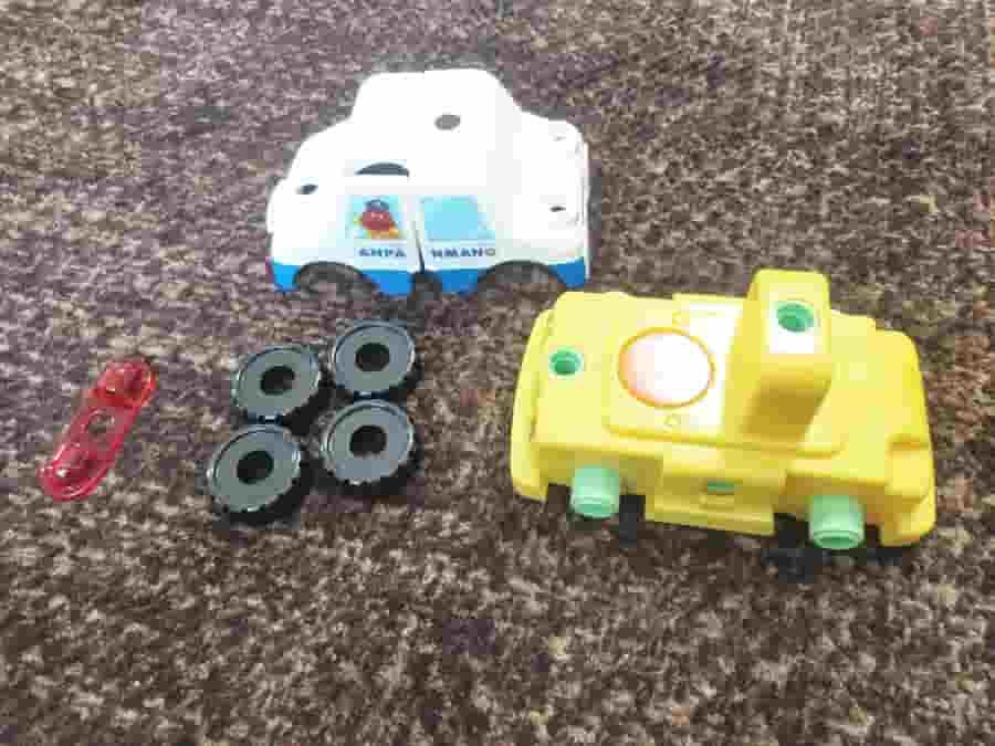 アンパンマンDIY ねじねじチェンジはたらくのりものパトカーの作り方は?
