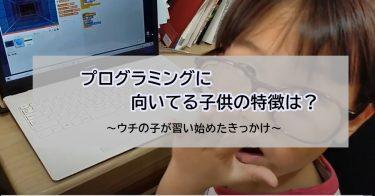 プログラミングに向いてる子供の特徴は?ウチの子が習い始めたきっかけ~ゆいくんのプログラミングブログ①~